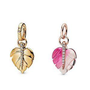 Pandora Cubic Zirconia Murano Glass Dangle Charm